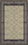 Shaw Living Nexus Stained Glass N0008 Ecru/Hyacinth Closeout Area Rug - 2014