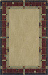 Shaw Living Nexus Glass Block N0017 Garnet Closeout Area Rug - 2014