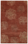 Capel Graphique 3393-500 Hibiscus Henna Area Rug