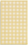 Karastan French Check Rugs 357-29424 Yellow Check Closeout Area Rug