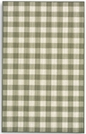 Karastan French Check Rugs 357-29773 Green Check Closeout Area Rug