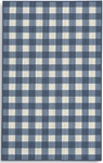 Karastan French Check Rugs 357-29917 Blue Check Closeout Area Rug