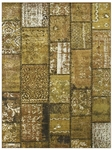 Feizy Broderie 3622F CFELBN Coffee Light Brown Closeout Area Rug