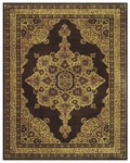 Feizy Sebastian 3649F Chocolate/Dark Gold Closeout Area Rug