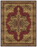 Feizy Sebastian 3649F Red/Red Closeout Area Rug