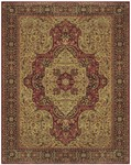 Feizy Sebastian 3654F Red/Chocolate Closeout Area Rug