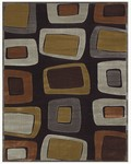 Feizy Saphir 3781F Black/Dark Gray Closeout Area Rug