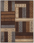 Feizy Saphir 3787F Dark Chocolate/Dark Grey Closeout Area Rug