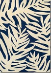 Couristan Covington 3990/0980 Palms Navy Area Rug