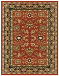 Feizy Wilshire 399EF Red/Charcoal Closeout Area Rug