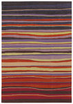 Shaw Living Loft Candy Stripes 13800 Red Closeout Area Rug - 2014