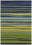 Shaw Living Loft Candy Stripes 13300 Green Closeout Area Rug - 2014