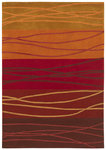 Shaw Living Loft Cadential 17800 Red Closeout Area Rug - 2014