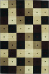Shaw Living Modern Elements Checkmate 02500 Black Closeout Area Rug - 2014