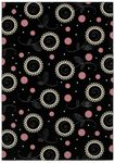 Shaw Kathy Ireland Home Young Attitudes Madison Girl 00102 Black/Pink Closeout Area Rug