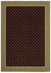 Shaw Kathy Ireland Home Young Attitudes Chocolate Mint 00104 Chocolate/Mint Closeout Area Rug