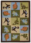 Shaw Kathy Ireland Home Young Attitudes Dino Dreams 00105 Chocolate Closeout Area Rug