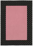Shaw Kathy Ireland Home Young Attitudes Opposites Pink 00106 Pink/Black Closeout Area Rug