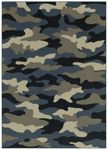 Shaw Kathy Ireland Home Young Attitudes Urban Jungle 17600 Locker Room Blue Closeout Area Rug