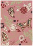 Shaw Kathy Ireland Home Young Attitudes Butterfly Fantasy 08840 Lip Gloss Closeout Area Rug