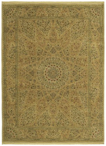 Shaw Living Antiquities Mosque Medallion 89100 Beige Closeout Area