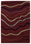 Shaw Living Impressions Jet Stream 06800 Red Closeout Area Rug - 2014