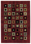 Shaw Living Impressions Grid Block 04800 Red Closeout Area Rug - 2014