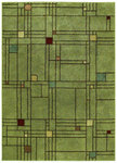 Shaw Living Origins City Streets 05300 Jadeite Green Closeout Area Rug - 2014