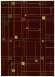 Shaw Living Origins City Streets 05800 Cayenne Red Closeout Area Rug - 2014
