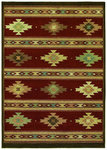Shaw Living Origins Painted Desert 11800 Cayenne Red Closeout Area Rug - 2014