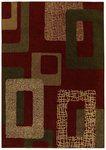 Shaw Living Origins Metro 10800 Cayenne Red Closeout Area Rug - 2014