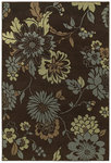 Shaw Living Concepts Flora Vista 11700 Brown Closeout Area Rug - 2014