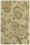Shaw Living Concepts Flora Vista 11100 Beige Closeout Area Rug - 2014