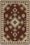 Shaw Living Concepts Taos 01800 Red Closeout Area Rug - 2014