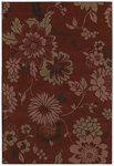 Shaw Living Concepts Flora Vista 11800 Red Closeout Area Rug - 2014