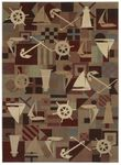 Shaw Kathy Ireland Home Ohana Paradise Anchors Aweigh 05440 Multi Closeout Area Rug