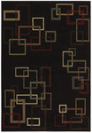 Shaw Living Inspired Design Cubist 17500 Black Closeout Area Rug