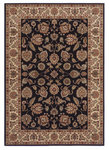Shaw Living Inspired Design Chateau Garden 02500 Black Closeout Area Rug - 2014