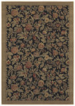Shaw Living Woven Expressions Gold English Floral 11500 Ebony Closeout Area Rug - 2014
