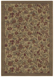 Shaw Living Woven Expressions Gold English Floral 11100 Sand Closeout Area Rug - 2014