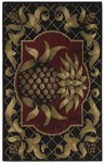 Shaw Living Reflections Pineapple 02500 Black Closeout Area Rug - 2014