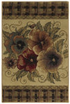 Shaw Living Reflections Multi Pansies 07100 Beige Closeout Area Rug - 2014