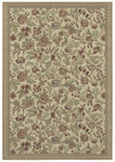 Shaw Living Woven Expressions Gold English Floral 11105 Ivory Closeout Area Rug - 2014