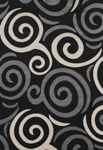 United Weavers Townshend 401 00770 Pinball - Black Area Rug