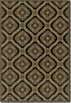 Couristan Dolce 4075/0195 Napoli Black/Gold Closeout Area Rug