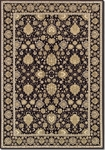 Couristan Dolce 4086/1259 Pompano Black/Beige Closeout Area Rug