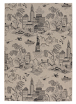 Capel Finesse 4723-330 NY Toile Noir Area Rug