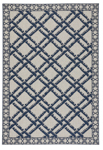 Capel Finesse 4724-475 Bamboo Trellis Navy Area Rug