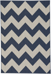 Capel Finesse 4726-475 Chevron Navy Area Rug