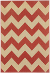 Capel Finesse 4726-550 Chevron Cayenne Area Rug